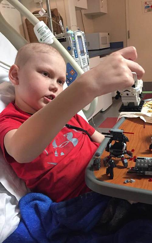 Sydney playing Legos